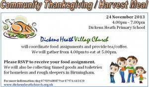Thanksgiving - Harvest Meal